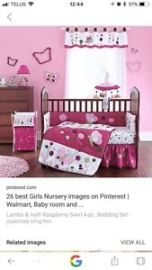Lambs and ivy kids bedding/room decor set