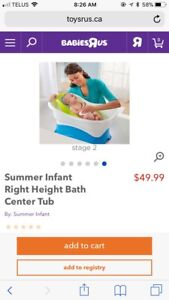 Summer Infant Right Height Tub with insert