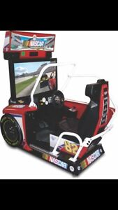 NASCAR sit down arcade driving game