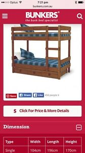 Bunkers Bunk Bed - Side Ladder Bunk and Underbed Storage Adelaide CBD Adelaide City Preview