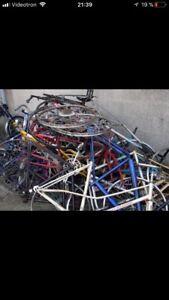 Je prend vos vélos à donner!!!
