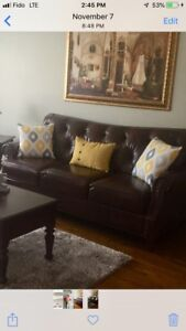3 seat leather sofa and love-seat