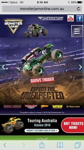 MONSTER JAM +  entry into the PIT PARTY Bannockburn Logan Area Preview