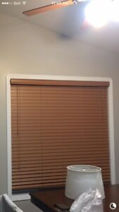 """2"""" wood blind, 58"""" wide by 60"""" length"""