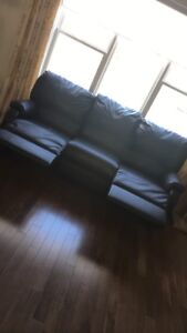 Black reclining couch - $160
