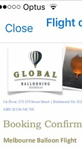 2 x hot air ballooning ride over Melbourne valued at $880 Berwick Casey Area Preview