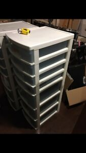 Clear stackable drawers (2 of them)