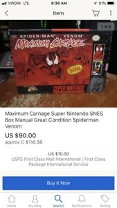Looking for maximum carnage for snes