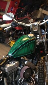 Chopper/sportster tins and seat