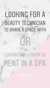 looking for beauty technician to share the space