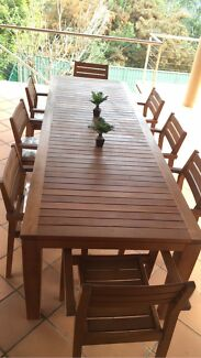 Soild timber table and chairs Belrose Warringah Area Preview
