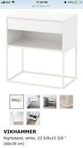 IKEA white side table