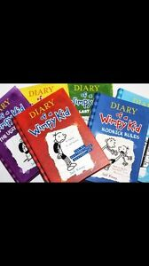 Diary of a Wimpy Kid Series *5 Hardcover Books