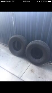 2 x 4x4 31inch tyres to suit 15inch rims