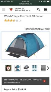 Woods eagle river 10 person tent