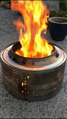 Wood burner UPCYCLED WASHING MACHINE DRUM FIRE PIT / bbq