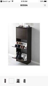 Ikea shoe rack dark brown