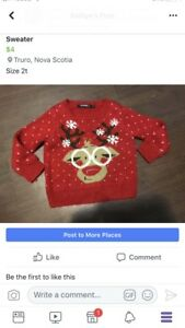 2t Christmas sweater
