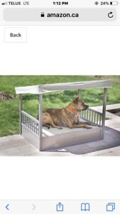 Dog bed with canopy
