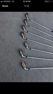 7 Left Handed Dunlop Irons