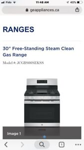 GE GAS Stove Brand New with Gas line Installation $1300 cash