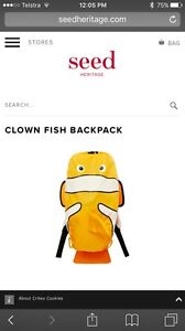 Seed Clown Fish Backpack - Brand New with Tags! Doncaster Manningham Area Preview