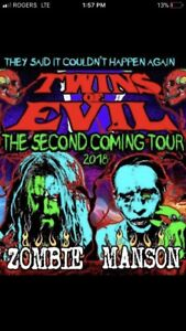 Rob zombie and Manson tickets