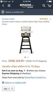 Summer Infant solid wood High Chair