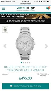 Men's Burberry watch Camp Hill Brisbane South East Preview