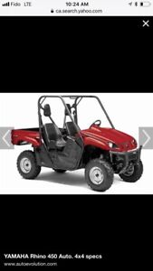 Yamaha Rhino   Buy or Sell Used or New ATV Trailers, Parts