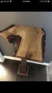 Side Table, Live Edge