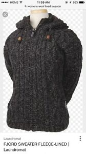 Wanted wool fleece lined sweater  Peterborough Peterborough Area image 1
