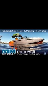 Fiberglass, Gelcoat,Stripes, Graphics, Polishing, Detailing