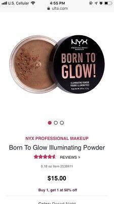 Nyx Born To Glow Illuminating Powder- Desert Night- Brand New! for sale  Westby