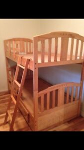 Hard maple bunk bed