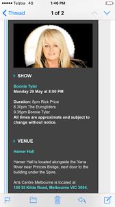 Bonnie Tyler & Rick Price Docklands Melbourne City Preview