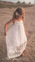 White boho Flower girl dress size 2 Manly Manly Area Preview