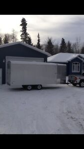 Winter fun package 3 sleds and enclosed trailer