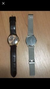 NEW Guess genuine leather watch $50 both