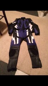 Two-piece motorcycle suit
