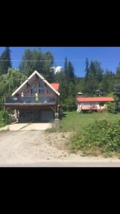 lake front room for rent, big beach, shared house ,Shuswap lake