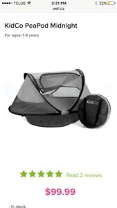 PEAPOD KIDS TRAVEL BED AND TENT