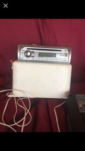 Marine CD player box speakers and battery charger