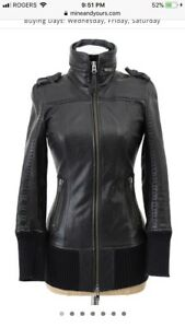 Mackage Nev leather jacket size xxs