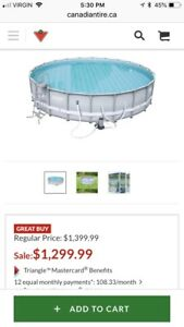 22ft round Coleman swimming pool