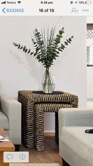 Wicker side tables coffee tabled- 2 cubes and a 2 piece set