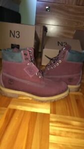 timberland burgundy size 10.5 homme
