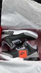 Size 8and 8.5 DS BLACK CEMENT JORDAN 3