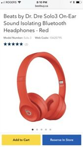 Beats Solo 3 headphones black rose-gold and red