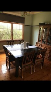 Square dining table with 6 ornate chairs Reservoir Darebin Area Preview